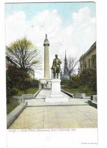 Teakle Wallis Monument Baltimore Maryland #12196 Printed in Germany