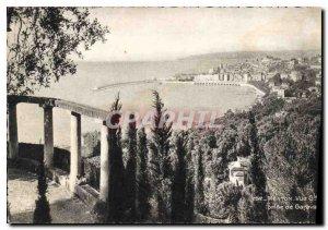 Postcard General view taken Moderne Menton Garavan
