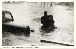 RI - Providence. 1938 Hurricane, Exchange Place Flooded