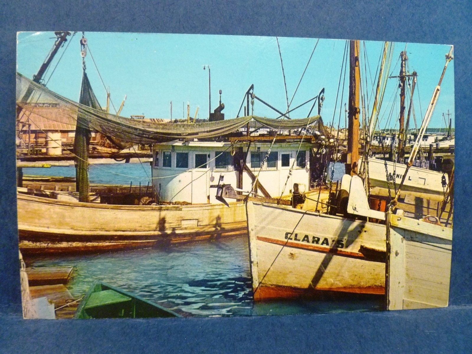 Postcard ms biloxi shrimp and oyster fishing boats for Fishing in biloxi ms