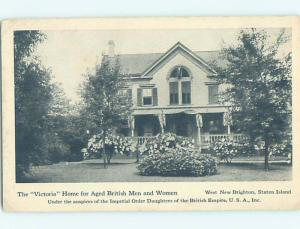 c1910 WEST NEW BRIGHTON OLD-AGE HOME Staten Island - New York City NY H6868