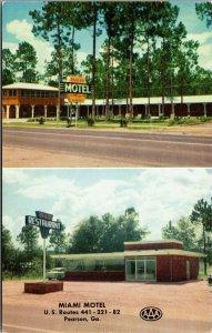 Postcard Miami Motel and Restaurant in Pearson, Georgia~132347