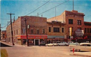 Vintage Roadside Postcard; Tonopah NV Drug Store Cafe Bar Cool Cars Nye County