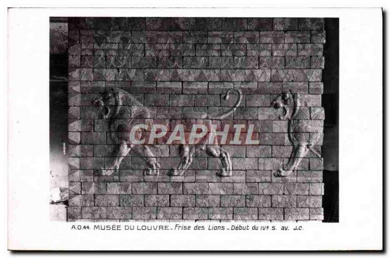 Old Postcard Musee Du Louvre Friesland Lions