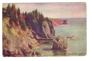 Rock Bound Coast, Nova Scotia, Used 1906, Warwick
