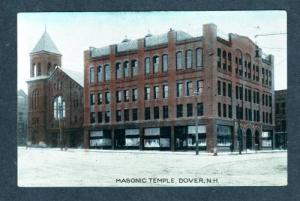 NH Masonic Temple DOVER NEW HAMPSHIRE OLD Postcard