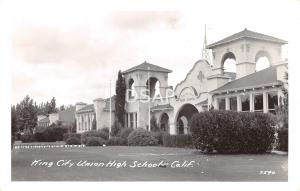 California Ca Postcard Real Photo RPPC c1940s KING CITY Union HIGH SCHOOL