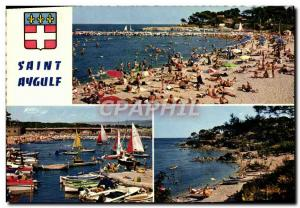 Postcard Modern Saint Aygulf The Beach Wearing return Regates Beach Pebrier