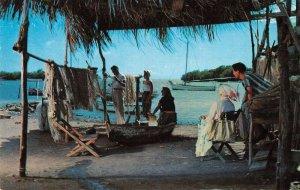 La Parguera Puerto Rico Fishing Village Scene Vintage Postcard AA40240