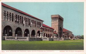 Entrance & Memorial Arch, Stanford University, CA, 1904 Postcard, Unused