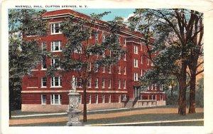Maxwell Hall Clifton Springs, New York Postcard