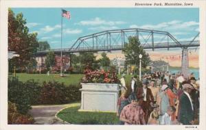 Iowa Muscatine Riverview Park Curteich