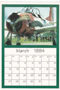 March 1994 Limited Editon Calendar Cardm AirShow '94 T-28 Trainer