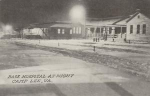 CAMP LEE, Virginia, 1910-20s; Base Hospital at Night