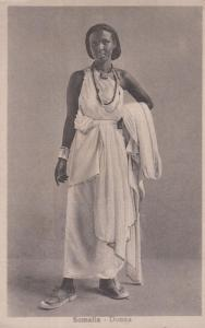 Somalia Lady Woman Costume Antique Postcard