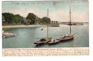 Winthrop Centre, Boston Harbor, Massachusetts, Used 1907 Cork Cancel