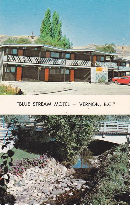 2-view, Blue Stream Motel, Vernon, B.C., Canada, 40-60s
