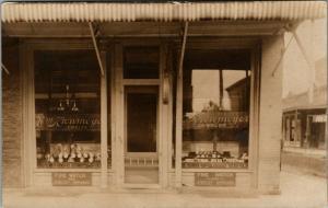 Murphysboro Illinois~WM Kronmeyer Jeweler Storefront~From Owner to Bro~1908 RPPC