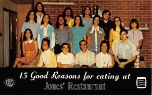 Bardstown Kentucky Jones Home Restaurant Group Photo Vintage Postcard K97376