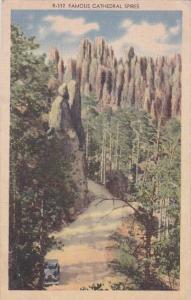 Famous Cathedral Spires Black Hills South Dakota 1947