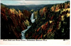 Great Falls and Grand Canon, Yellowstone National Park, Embossed 88-2