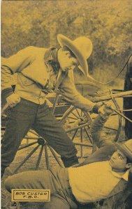 BOB CUSTER, In fight scene, 1920-30s