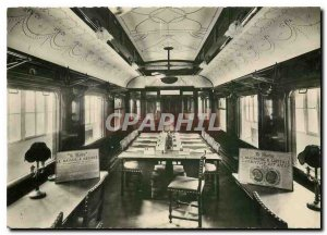 Modern Postcard Forest of Compiegne Oise Carrefour Armistice Wagon Interior M...