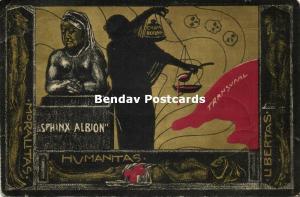 BOER WAR, Caricature, Protest Postcard English Warfare against Transvaal (1901)