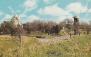 WINDMILL , Jack & Jill , CLAYTON , South Downs , England , 1950-60s