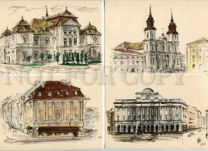 182224 POLAND WARSZAWA by Antoni Uniechowski set of 9 PC