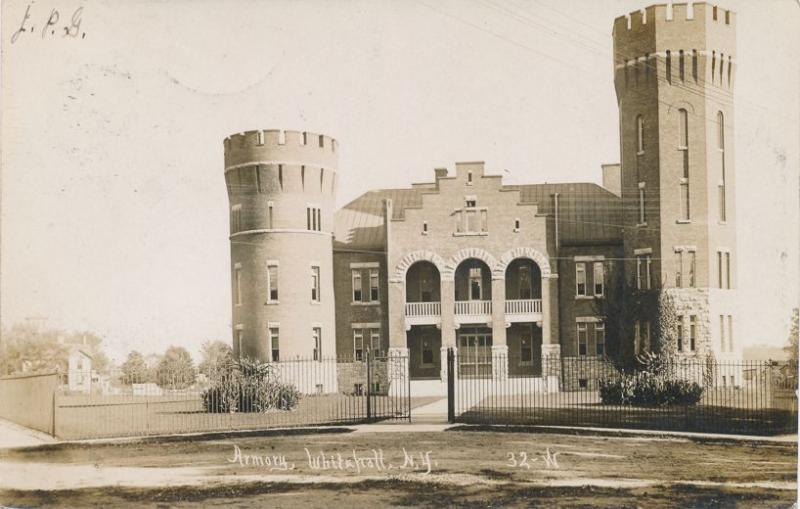 RPPC Armory at Whitehall, Washington County NY, New York - pm 1907