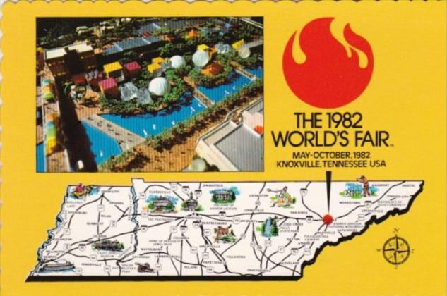 the 1982 worlds fair knoxville tennessee aerial view map of tennessee