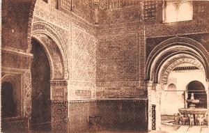 Spain Old Vintage Antique Post Card Alhambra, Sala de las Dos Hermanas Granad...