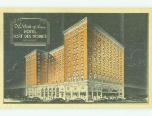 Linen FORT DES MOINES HOTEL Des Moines Iowa IA HQ3616