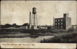 Barnesville MN Light Plant Flour Mill c1910 Postcard