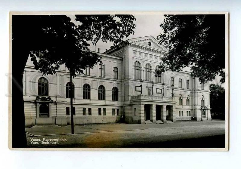 213768 FINLAND VAASA VASA city hall Vintage photo postcard