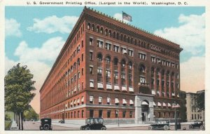 WASHINGTON D.C., 1900-10s; U.S. Government Printing Office