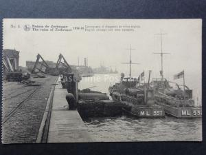 WW1 Belgium Ruines de ZEEBRUGGE No.6 1914-18 English Mine Sweepers ML557 & ML532