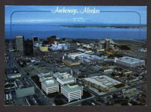 AK Aerial View Cook Inlet ANCHORAGE ALASKA Postcard Carte Postale
