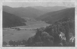 Freiburg Germany Scenic View Real Photo Antique Postcard J46734