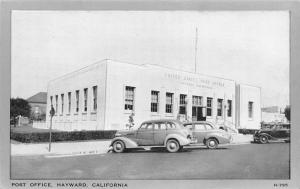 Hayward California~US Post Office~Open Doors~1930-40 Cars~Wayne Paper Postcard