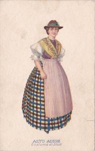 Switzerland Alto Adige Costume de Siusi Woman Traditional Costume