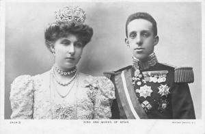 King and Queen of Spain, Alfonso XIII, Victoria Eugenie of Battenberg