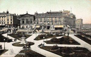 Paisley Dunn Square Statues Promenade Postcard