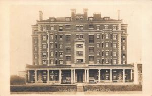 New York Brooks Hall Barnard College Front view real photo Postcard