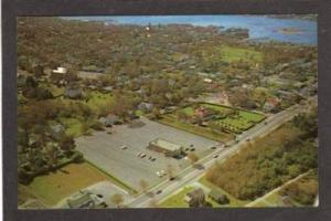 MA Aerial View of Route 6 FAIRHAVEN MASS National Bank Massachusetts Postcard