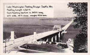 Washington Seattle Lake Washington Floating Bridge Real Photo