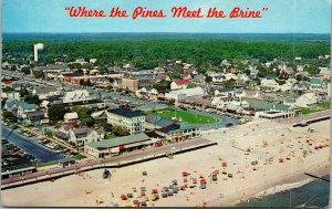 Vtg 1960s Aerial View of Rehoboth Beach Delaware DE Postcard