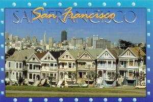 Postcard 1995 San Francisco. Victorian Homes, California, USA J84