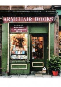 Armchair Books Edinburgh Victorian Bookstore Scottish Shop Postcard